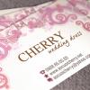 Cherry Wedding Dress Name Card