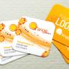 Orange Fashion Mini Card
