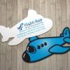 Mẫu Thiết kế name card hình máy bay Flight Shop