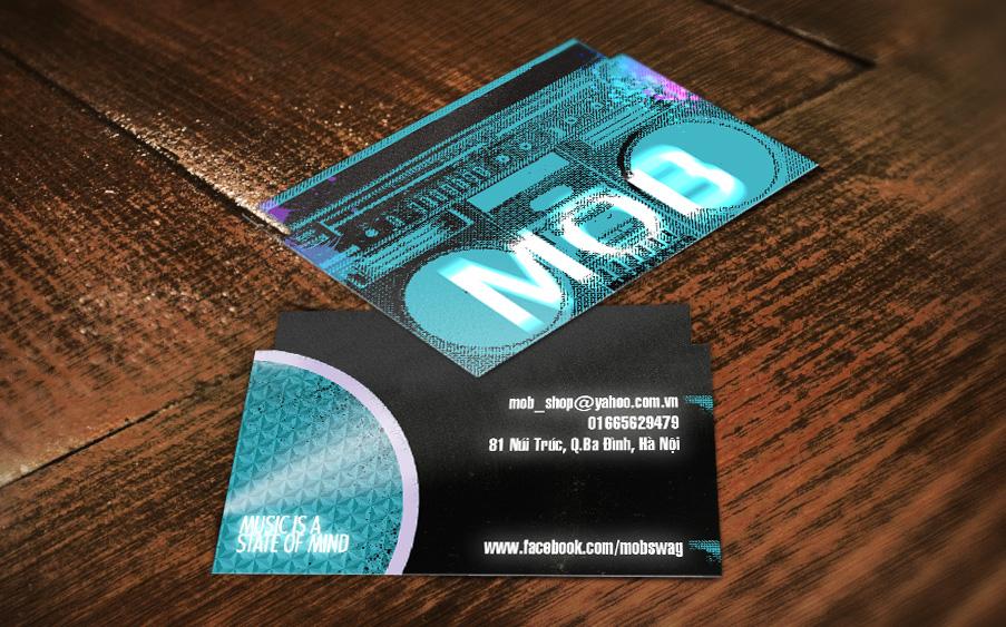 Mẫu thiết kế name card cho Mob Shop