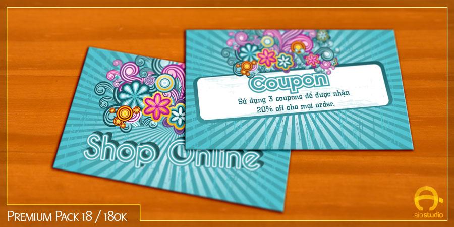 Mẫu thiết kế name card có sẵn - Premium Pack 18