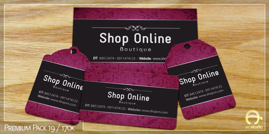 Mẫu thiết kế card visit có sẵn - Premium Pack 19