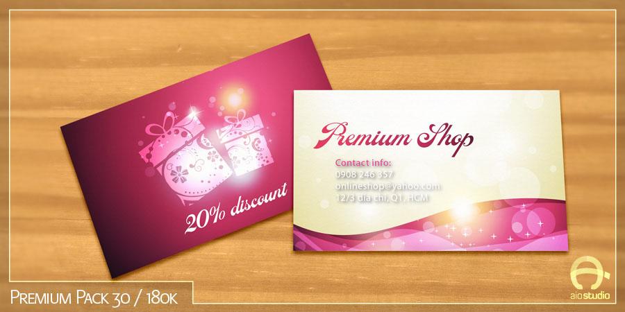 Mẫu thiết kế mác ghi giá có sẵn - Premium Pack 30