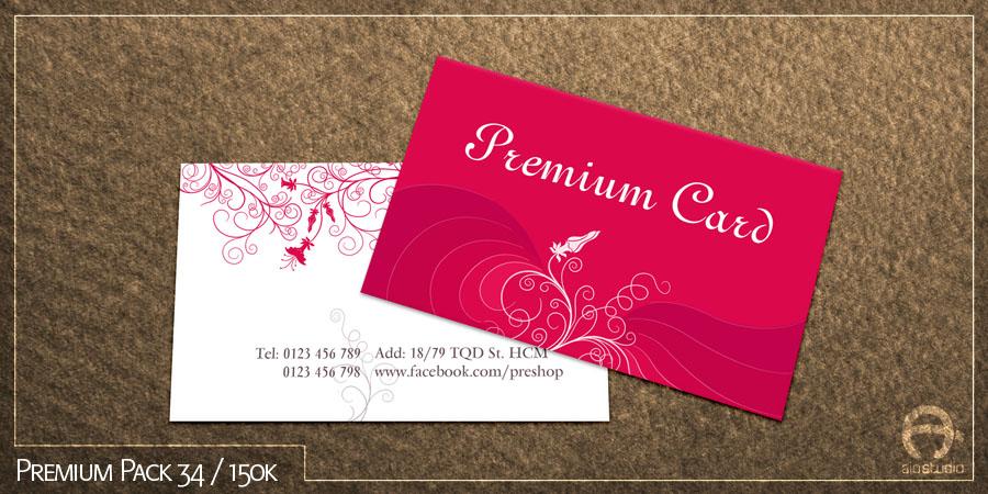 Mẫu thiết kế card vist có sẵn - Premium Pack 34