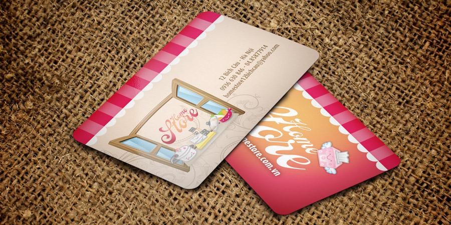 Mẫu thiết kế Card Visit cho Home Store