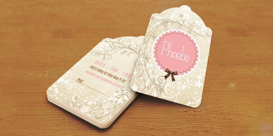 Mẫu thiết kế Tag ghi giá cho Phoebe Shop