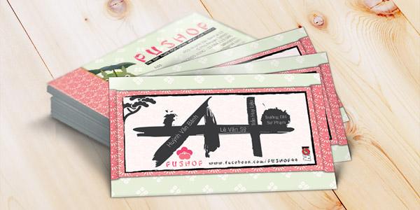 Bản đồ thiết kế đặc biệt đồng bộ theo phong cách của name card Pu Shop