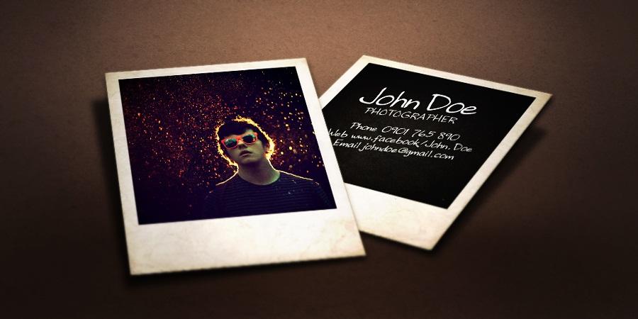 Danh thiếp đặc biệt cho những ai yêu photography, lomography, instant camera