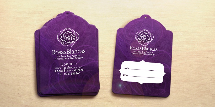 Tag ghi giá - Rosas-Blancas - Price tag