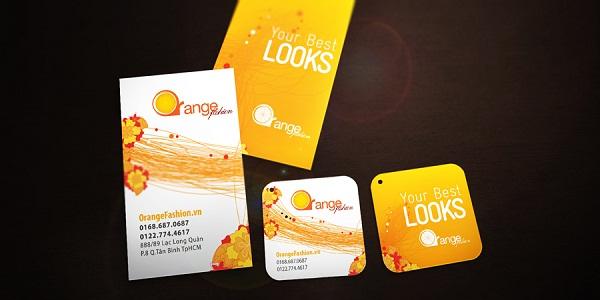 Brand Identity design - orange fashion