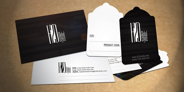 Trọn bộ thương hiệu H2D logo, danh thiếp, mác giá