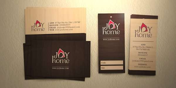Joy Home Logo, Business Card & Price Tag