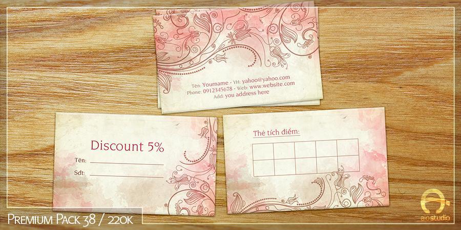 Mẫu thiết kế Tag/Mác ghi giá có sẵn - Premium Pack 38