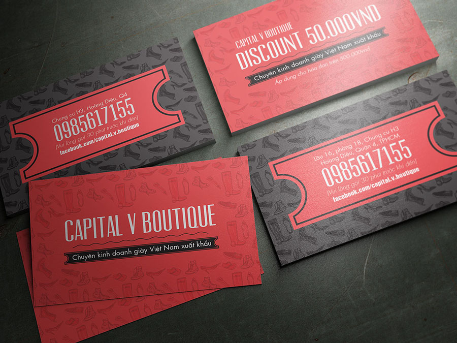 Captival V Boutique - Card Visit