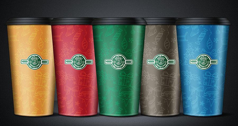 Effoc Coffe - Bọc cốc cho Giáng sinh