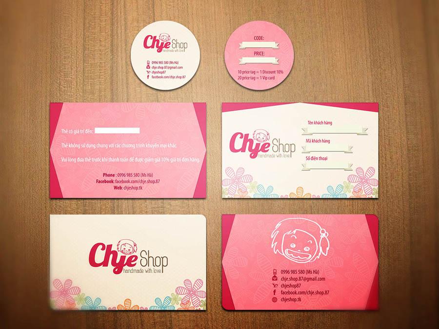 Trọn bộ thiết kế thương hiệu - Chje Shop