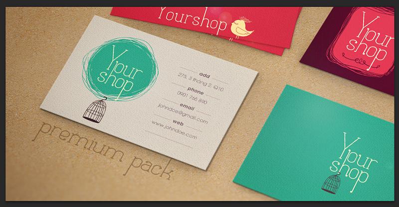 Thiết kế Card/Tag theo mẫu có sẵn Premium Pack