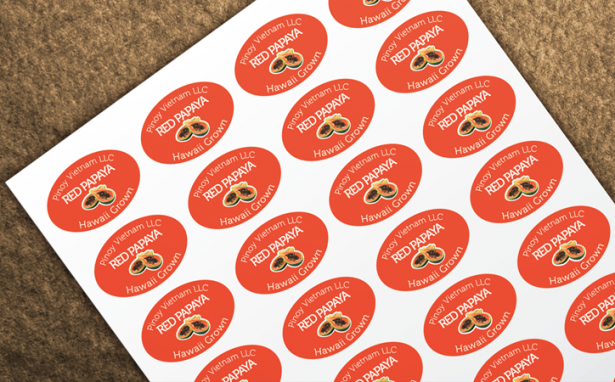 Red Papaya Sticker