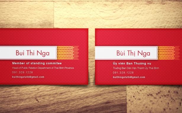 Mrs. Nga – Name Card