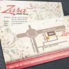 Bản đồ trên mặt sau danh thiếp của Zara Shop