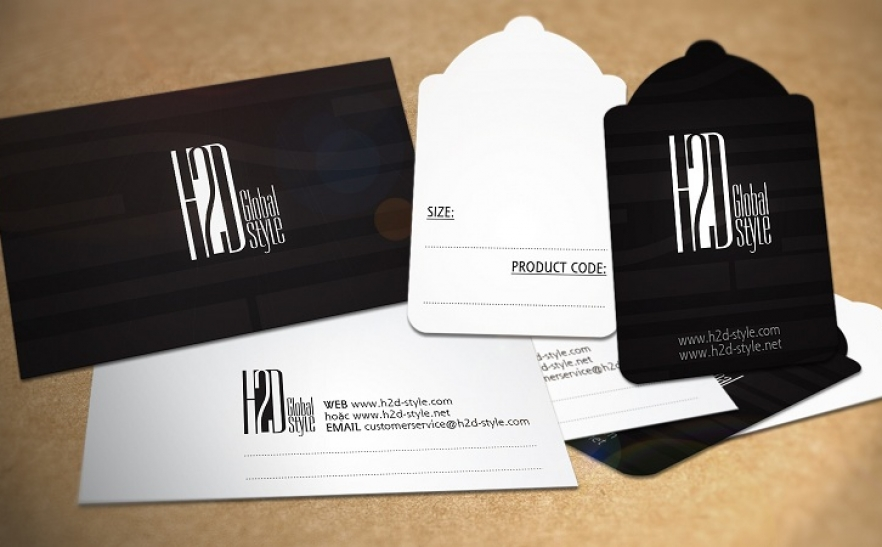 Trọn bộ Danh thiếp, Mác giá - H2D Style