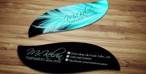Kelvin Hair Salon – Name Card hình dạng đặc biệt