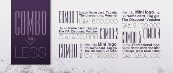5 Combo Pack cho thiết kế Logo, Name Card, Tag, Mác quần áo, Discount, Voucher, thẻ VIP