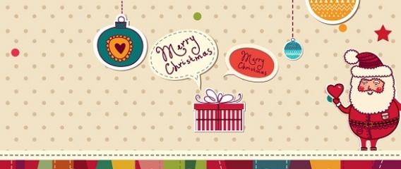 cute christmas present facebook cover