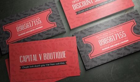 Capital V Boutique – Card Visit