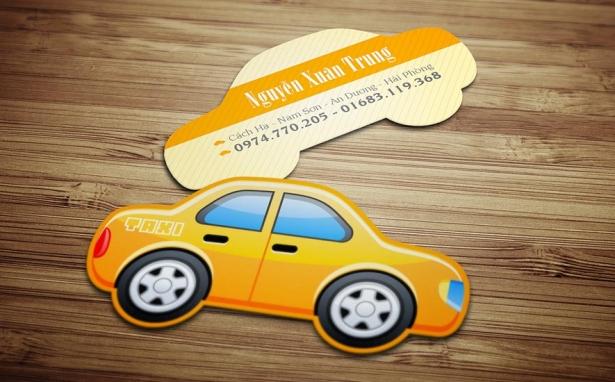 Taxi – Name Cards hình dạng đặc biệt