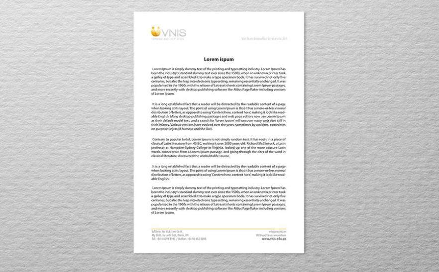 VNIS Letter Head