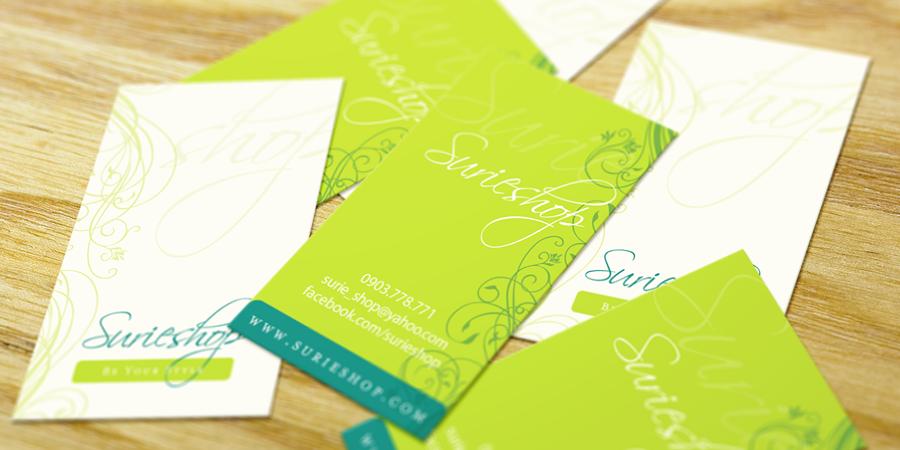 Danh thiếp xanh - Surie Shop - Green Business Card