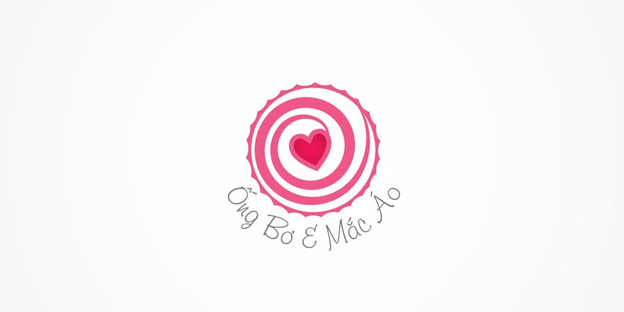Mẫu thiết kế Logo cho shop thời trang Ống bơ & Mắc áo