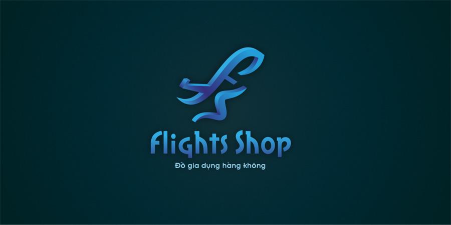 Mẫu thiết kế logo 3D cho Flight Shop