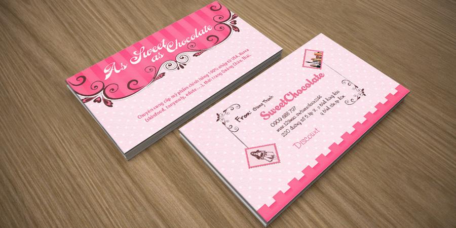 Mẫu thiết kế name card cho Sweet Chocolate Shop
