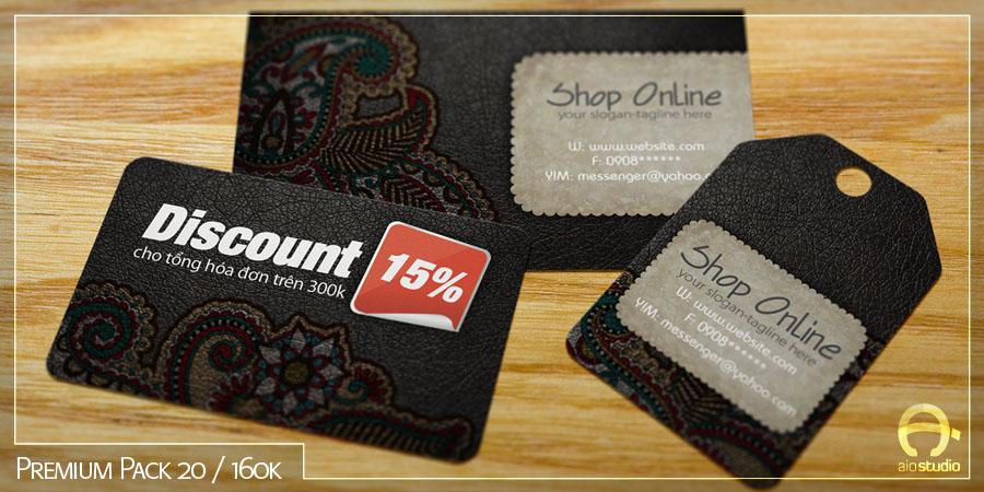 Mẫu thiết kế mác ghi giá có sẵn - Premium Pack 20