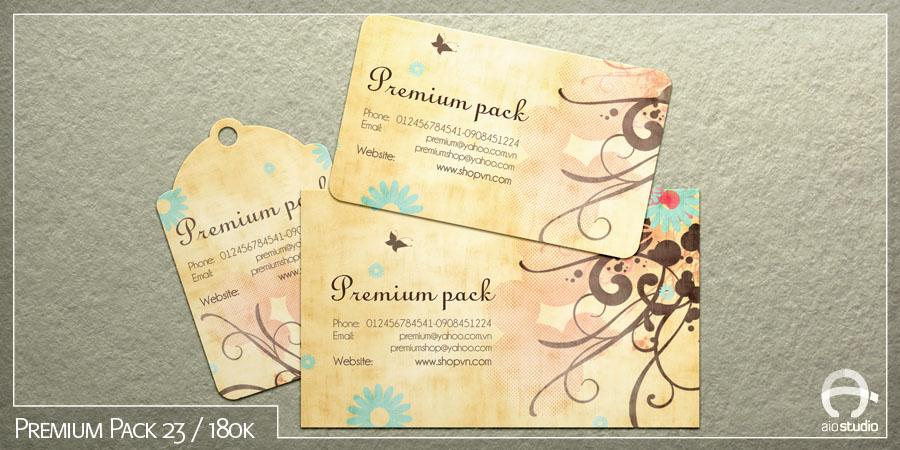 Mẫu thiết kế thẻ tích điểm có sẵn - Premium Pack 23