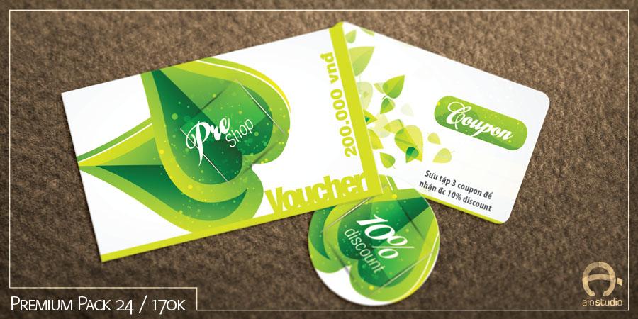 Mẫu thiết kế thẻ giảm giá có sẵn - Premium Pack 24