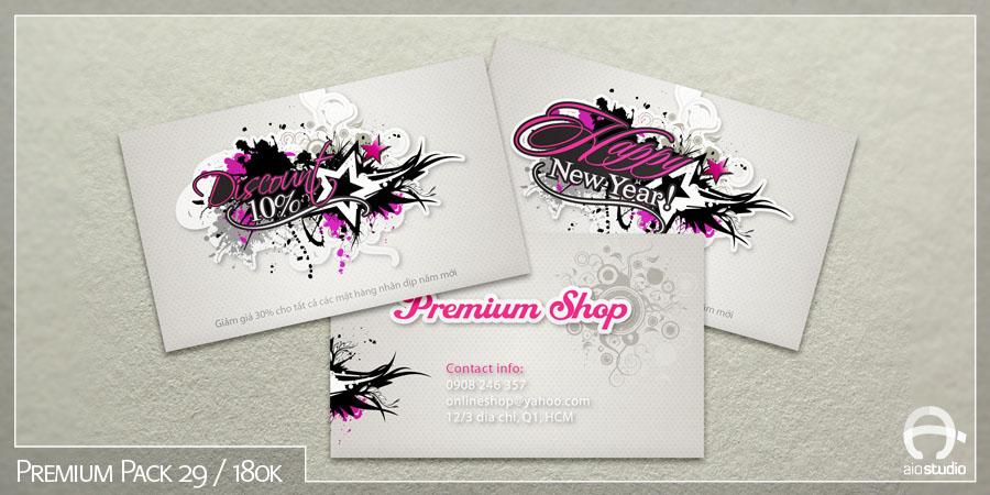 Mẫu thiết kế mác ghi giá có sẵn - Premium Pack 29