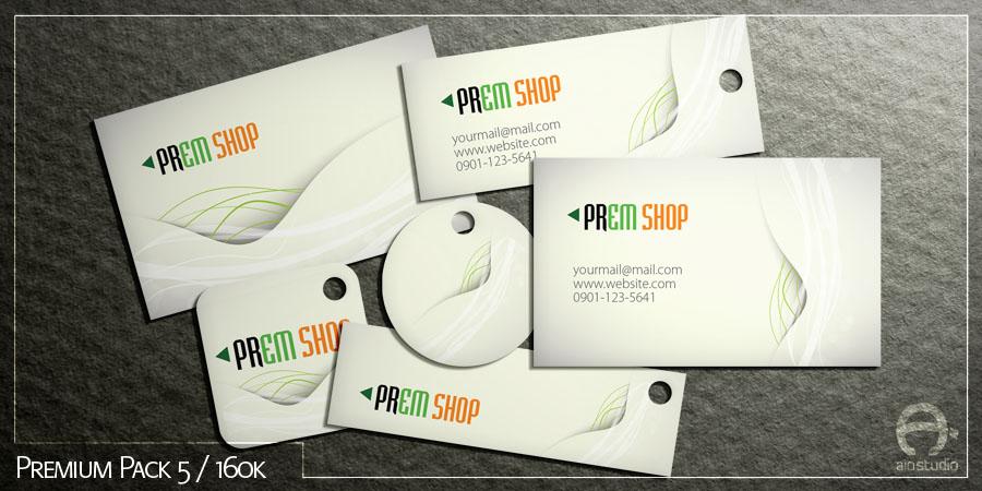 Mẫu thiết kế thẻ ghi giá có sẵn - Premium Pack 5