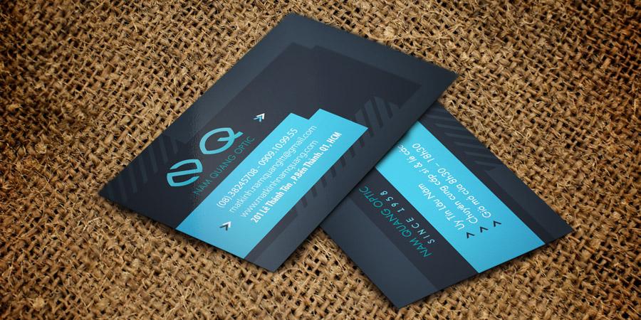 Mẫu thiết kế Card Visit cho cửa hàng Mắt Kính Nam Quang