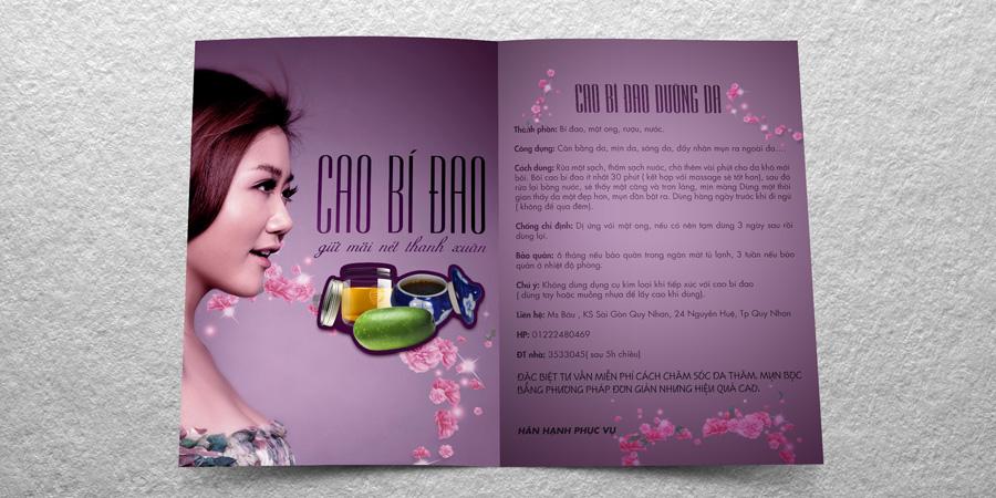 Mẫu thiết kế Flyer cho Shop Cao Bí Đao