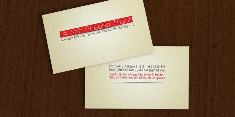 Danh thiếp cá nhân, card visit cho giáo viên, gia sư