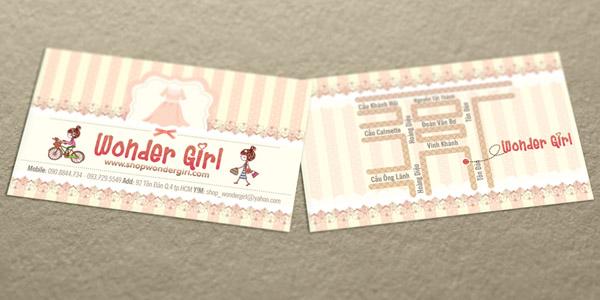 Bản đồ của Shop Wonder Girl được thiết kế đặc biệt