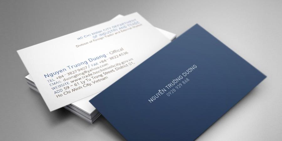 Personal Business Card - Duong Nguyen - Danh thiếp cá nhân