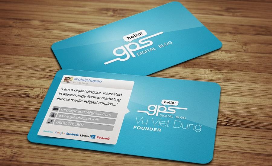 Personal Business Card - Blogger Vũ Việt Dũng, aka Mr. Giải Pháp Số - Danh thiếp cá nhân