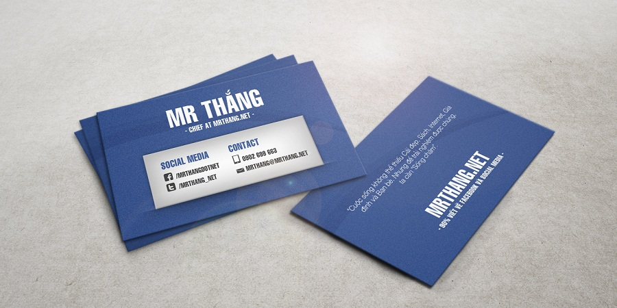 Personal business card - Blogger Mr. Thắng - Danh thiếp cá nhân