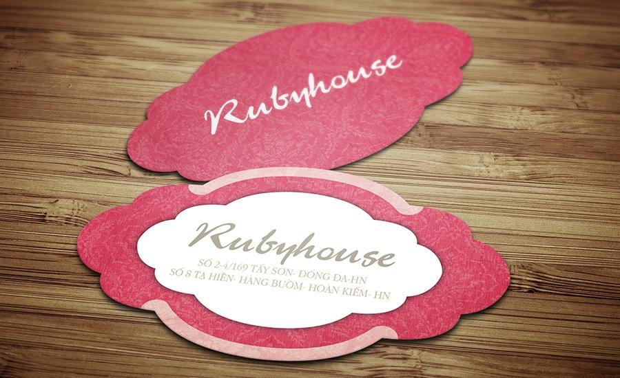 Rubyhouse - Danh thiếp hình dạng đặc biệt
