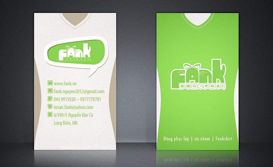 Name Card - Fank T-Shirt - Đồng Phục - Danh thiếp