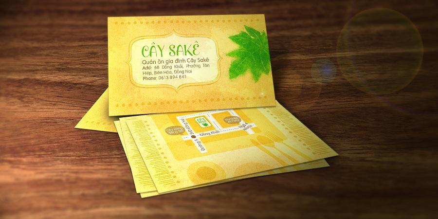 Nhà hàng quán ăn gia đình - Cây Sa Kê - Name Card